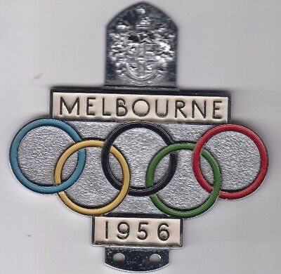 Olympic Games 1956 Melbourne automobile badge by H.R Hobson Pty Ltd, scarce