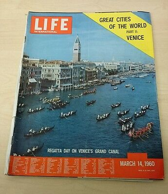 Vintage Life Magazine - International Edition - March 14 1960 - Venice
