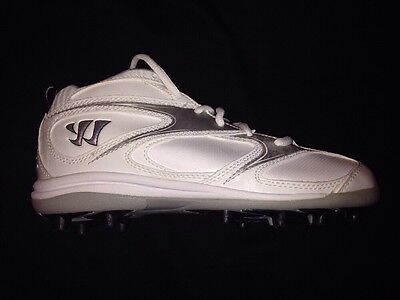 **NEW** Kid's Lacrosse / Field Hockey Cleats Shoes Warrior Burn 4.0 Mid Jr.