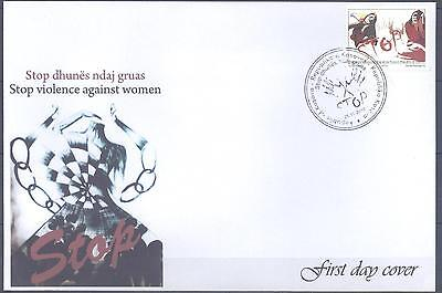 Kosovo 2010 Fdc Stop Violence Against Women Very Fine