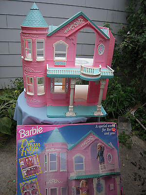 Barbie Doll Dream House vtg lot HUGE Pink Mansion Castle Dollhouse Elevator BOX