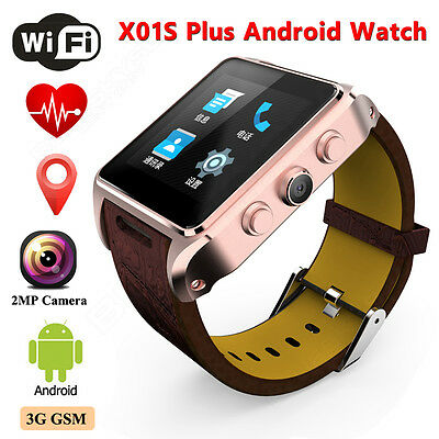 X01S+ Wi-Fi Smart Watch Android 5.1 GSM Phone Mate GPS SIM Fotocamera
