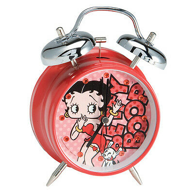 Betty Boop Twin Bell Battery Operated 1 Aa Battery Alarm Clock Vr A0