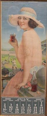 1922 Coca-Cola Calendar with Baseball Setting