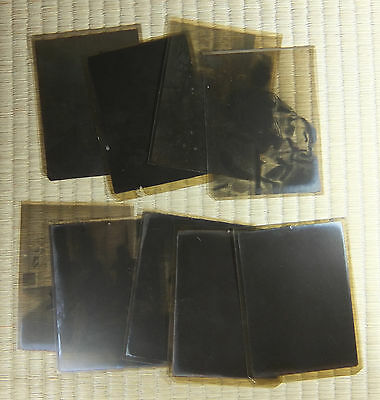 Antique Film Negative / Japanese / Family Snapshots / Set of 9 / c. 1920s