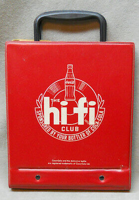 Vintage 1950's Coca Cola Hi-Fi 45 rpm Records Holder Carrier.