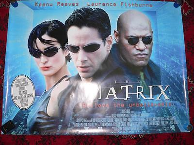 THE MATRIX s/s Uk Quad Film Cinema Poster rolled Original