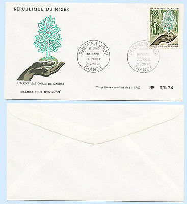 Niger 1974 National Tree Week Hand Holding Sapling First Day Cover - FDC #304