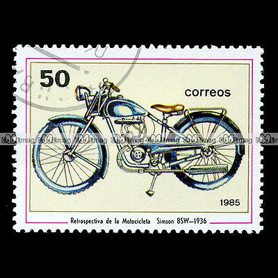 ★ SIMSON BSW 98 cc 1936 ★ Timbre Poste Moto / Classic Bike Motorcycle Stamp #42