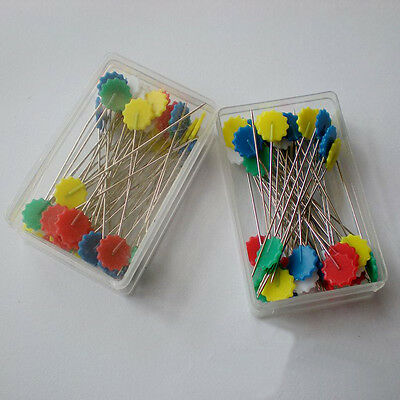 100PCS/1Box Women Sewing Accessories High Quality Flower Head Pins Sewing Pins