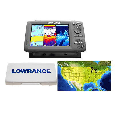 Lowrance HOOK-7 Combo W/Card Includes Cover/ Lake Insight Chart #000-12664-002