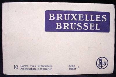 Postcard Folder Brussels Belgium WW2 Era 10 Postcards