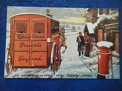 """""""christmas Presents From Toyland"""" - Scarce Pull-Out Novelty Greetings Postcard!"""