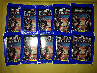 40 Packets Packs of Captain America Civil War Stickers Panini Party Bag Filler