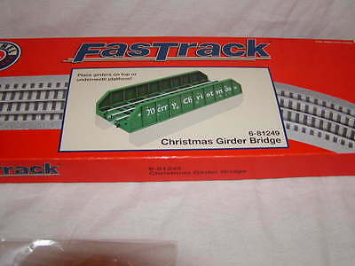 "Lionel 6-81249 Christmas Girder Bridge Track 10"" O 027 Fastrack Only MIB New"