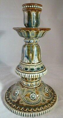 Antique Doulton Lambeth Stoneware Candlestick 1876 in excellent condition