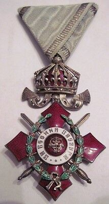 Bulgaria Royal Order Military Merit 5th class with crown and WAR Distiniction !!