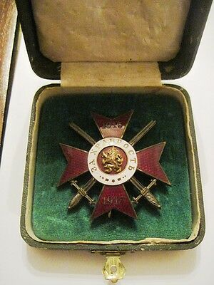 Bulgaria Royal Military Order for Bravery 4th class ,1st degree 1915-1917y.+case
