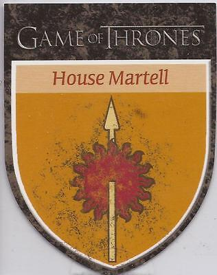 Game of Thrones Season 3 - H10 House Martell Sigil Die-Cut Case Card