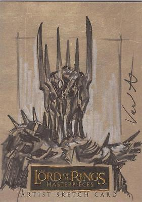 """Lord of the Rings Masterpieces - Jerry Vanderstelt """"Witch-King"""" Sketch Card"""