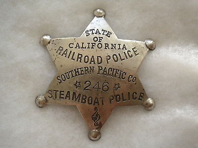 Railroad police, Southern Pacific Co Steamboat Police California Badge