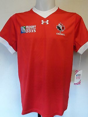 Canada Rwc 2015 S/s Rugby Home Jersey By Under Armour Size Medium Brand New