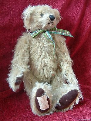 Deans Rag Book Bear HUGO 2001 Membership collectors mohair teddy jointed 10""