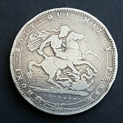 1820 LX  George III Silver Crown Coin Great Britain