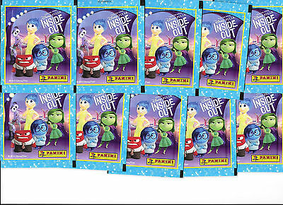 10 Packets Packs of Disney Pixar Inside Out Stickers Panini Party Bag Filler