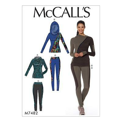 McCALL'S SEWING PATTERN MISSES' JACKETS & LEGGINGS SIZE 6 - 22 M7482