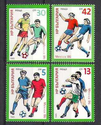 Bulgaria 1985 WC Football/Sports/Soccer 4v set (n26334)