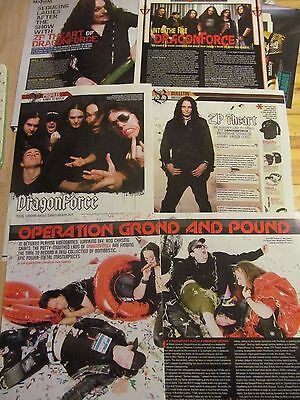DragonForce, Lot of FIVE Full and Two Page Clippings