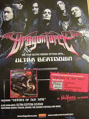 DragonForce, Ultra Beatdown, Full Page Promotional Ad