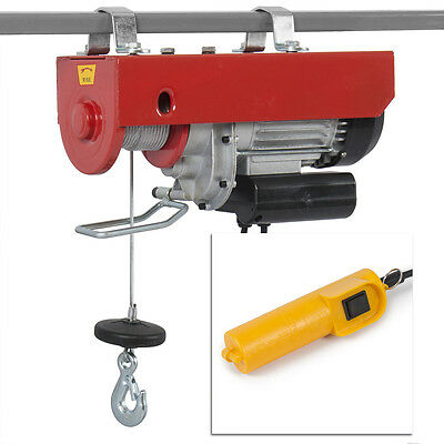 880Lb Electric Overhead Motor Lift Hoist Garage Engine Cable Winch Crane Ceiling