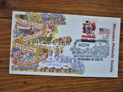 The Great Circus Parade Stunning Color Foil Cachet 1986 Milwaukee Cover