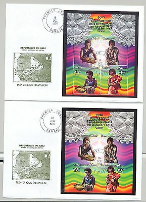 Mali 1996 Rotary, Food 1v M/S of 4 Perf & Imperf on 2 FDC