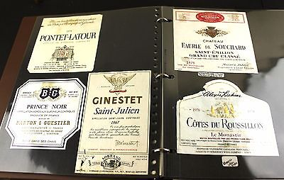 Antique Vtg Wine Alcohol Champagne Label Collection Album Binder Lot CA France
