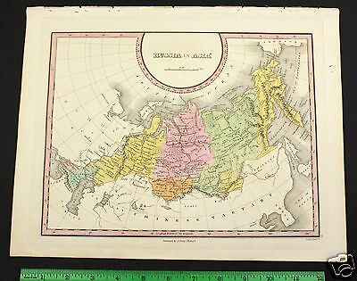Orig Antique Map 1820's RUSSIA in ASIA - Hand Colored Old Locations A Finley
