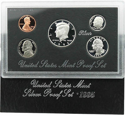 1995 S US Mint Silver Proof Coin Set