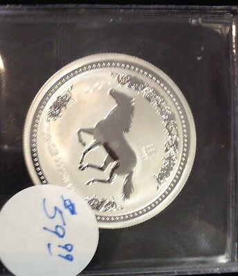 2002 Australia 50 Cent 1/2 oz .999 Silver Coin Year of the Horse Prooflike