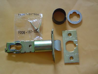 """Schlage Polished Brass 2 3/4"""" Replacement Deadlatch With Triple Faceplate Option"""