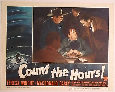 COUNT the HOURS 1953 Lobby Card/Poster ~EDGAR BARRIER ~ Jack Elam~MICHAEL McHALE