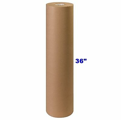 "36"" x 900' Brown Kraft Paper Roll 40# lb Shipping Wrapping Packaging Cushioning"
