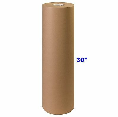 "30"" x 900' Brown Kraft Paper Roll 40# lb Shipping Wrapping Packaging Cushioning"
