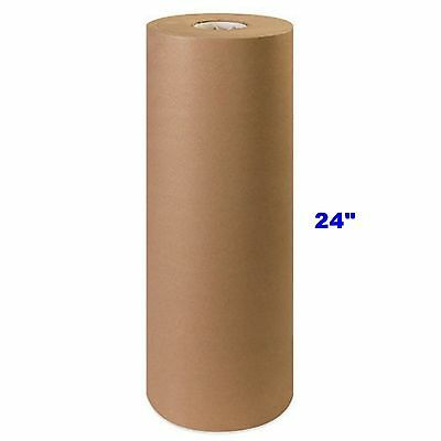"""24"""" x 900' Brown Kraft Paper Roll 40# lb Shipping Wrapping Packaging Cushioning"""