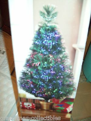 32 Inch Green Fiber Optic Christmas Tree Colors Continuously Change 83 Tips