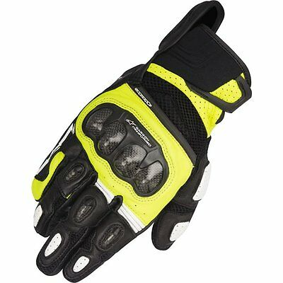 Alpinestars SPX Air Carbon Vented Leather/Textile Gloves Motorcycle Race Gloves