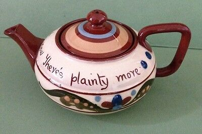 Hand Painted Antique Aller Vale Tea Pot 1885- 1887 - Rare And Excellent