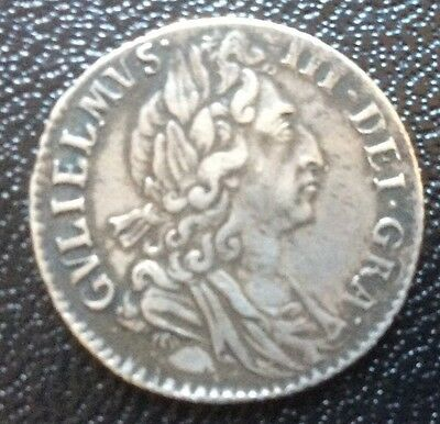 1697 William 111 -  Silver Sixpence - Gvf Grade ( Good Very Fine )