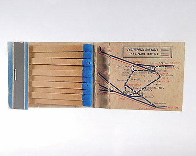 """(B) """"continental Airlines / Phillips Aviation Products"""" Shared Matchbook Cover"""